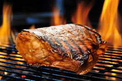 Piec na grillu wieprzowina zdjęcia royalty free