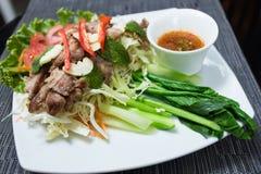Piec na grillu wieprzowina Fotografia Stock