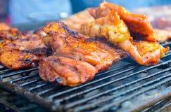 Piec na grillu wieprzowina Obraz Royalty Free