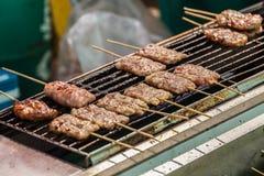 Piec na grillu wieprzowina obraz stock