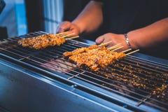 Piec na grillu wieprzowina kij obrazy stock