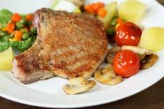 Piec na grillu wieprzowina kotleciki Zdjęcie Royalty Free
