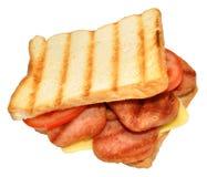 Piec na grillu wieprzowina lunchu Mięsna kanapka Zdjęcie Stock