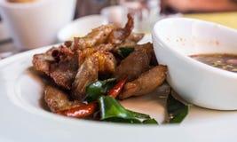 Piec na grillu wieprzowina w Tajlandzkim stylu Fotografia Royalty Free