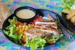 Piec na grillu wieprzowiny sałatka Obraz Stock