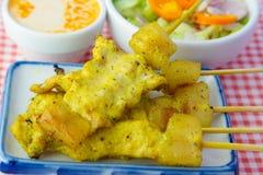 Piec na grillu wieprzowiny satay i słodcy ziele z Thailand& x27; s jedzenie był bardzo popularny w Tajlandia Zdjęcie Stock
