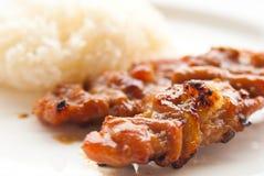 Piec na grillu wieprzowiny Tajlandzki jedzenia styl Zdjęcie Royalty Free