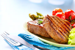 Piec na grillu wołowina stek Obraz Stock