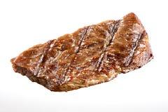 Piec na grillu wołowina stek Odizolowywający obraz stock