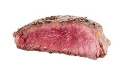 Piec na grillu wołowina stek odizolowywający na bielu obrazy stock