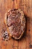 Piec na grillu wołowina stek Ribeye Obrazy Stock