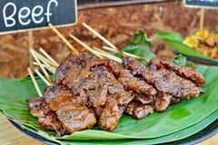 Piec na grillu wołowiny sprzedawanie zdjęcie stock