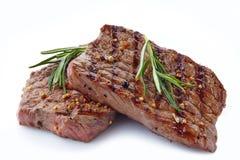 Piec na grillu wołowina stek Zdjęcia Royalty Free