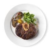 Piec na grillu wołowina z pieczarkami Zdjęcia Royalty Free