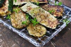 Piec na grillu zucchini Obrazy Royalty Free