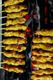 piec na grillu zwana wieprzowina tajlandzkie satay pikantność Obraz Stock