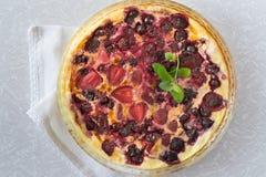 Piec omlet z jagodami Obraz Stock