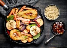 Piec owoc i warzywo zdjęcia royalty free