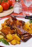 piec piec na grillu kartoflani ziobro Zdjęcie Royalty Free