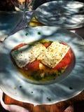 piec pomidor z serem zdjęcie royalty free