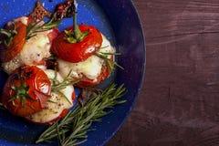 Piec pomidory serowi Zdjęcie Royalty Free