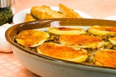 piec potrawki serowy oberżyny moussaka Zdjęcia Stock