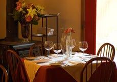 piec restauracji stołu drewna Zdjęcie Stock
