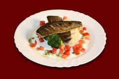 piec rybi warzywa Zdjęcia Royalty Free