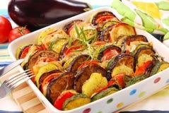 piec serowi warzywa Obraz Royalty Free