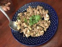 Piec tuńczyk z garlics Fotografia Stock
