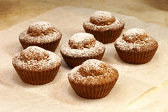 Piec w piekarników muffins Fotografia Royalty Free