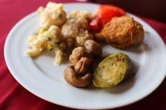 Piec warzywa z sosnową dokrętką i pietruszką Zdjęcie Stock