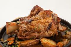 Piec wieprzowina knykieć z warzywami Obraz Royalty Free