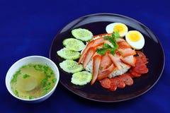 piec wieprzowina ryż Fotografia Royalty Free