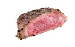 Piec wołowina stek odizolowywający na białym tle obrazy stock