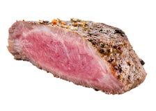 Piec wołowina stek odizolowywający na białym tle fotografia stock
