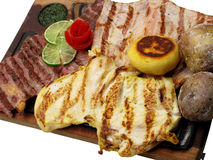 piec wołowiny mięso słuzyć stek zdjęcie stock