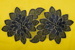 Piece of an African embroidered fabric (cotton) Royalty Free Stock Photography