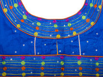 Piece of an African embroidered fabric (cotton) Royalty Free Stock Images