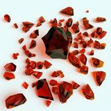 Piece of amber on white background Royalty Free Stock Photo