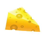 The Piece of the appetizing cheese Royalty Free Stock Photo