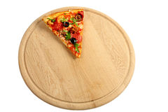 Piece of an appetizing pizza Stock Images