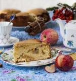 Piece of apple pie with cinnamon Royalty Free Stock Photo