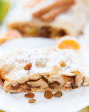 Piece of apple pie on a plate Royalty Free Stock Photography