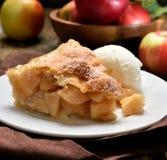 Piece of apple pie Stock Photo