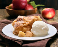 Piece of apple pie Stock Image
