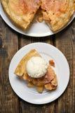 Piece of apple pie, top view Stock Image