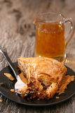Piece of Baklava served on a plate Stock Photo