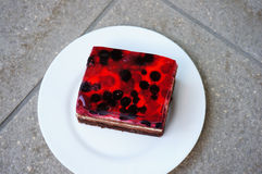 Piece of berry cake Royalty Free Stock Photography