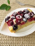 Piece of berry cake Royalty Free Stock Images